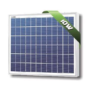 SolarLand 10W Poly 12Volt Silver SLP010-12U-W